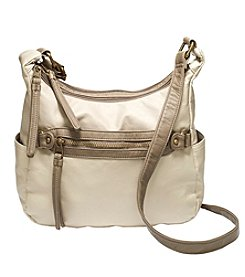 GAL Two Toned Pearlized Washed Pocket Crossbody