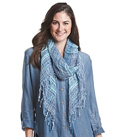 Basha Two Tone Textured Nubby Oblong Scarf