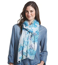 Basha Swiss Dotted Floral Oversized Scarf