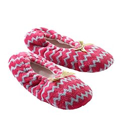 Fuzzy Babba® Lightweight Chevron Slippers