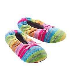 Fuzzy Babba® Lightweight Rainbow Stripe Slippers