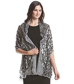 Collection 18 Scalloped Sequin Wrap