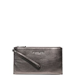 MICHAEL Michael Kors® Bedford Large Metallic Leather Wristlet