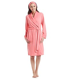 Jasmine Rose® Waffle Robe With Headband