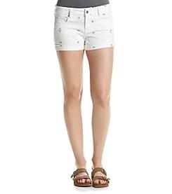 Celebrity Pink Geo Print Cuffed Shorts