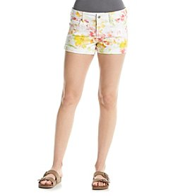 Celebrity Pink Floral Splatter Shorts