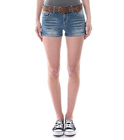 Wallflower® Belted Cuffed Shorts