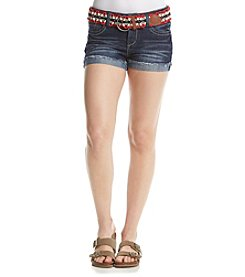 Wallflower® Jean Shorts With Americana Belt