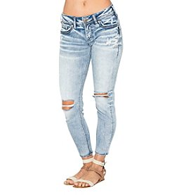 Silver Jeans Co. Suki Destructed Skinny Jeans