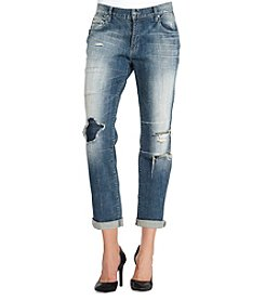 Jessica Simpson Destructed Boyfriend Jeans