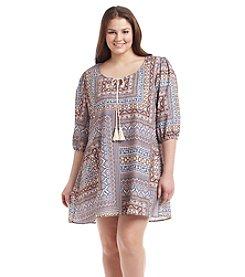 Living Doll® Plus Size Printed Dress