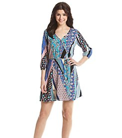 Be Bop Printed Wrap Dress
