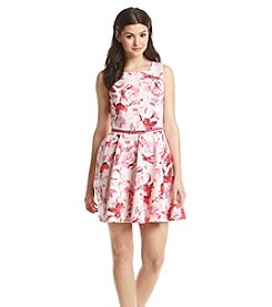 Bee Darlin' Floral Scuba Dress