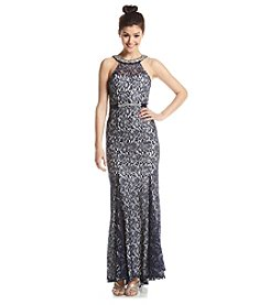My Michelle® Halter Lace Gown