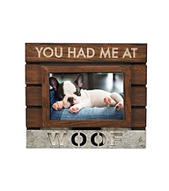 New View Planked Sentiment Frame - Woof