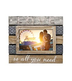 New View Planked Sentiment Frame - Love