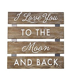 New View Plank Art - I Love You To The Moon And Back