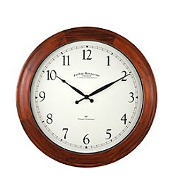 FirsTime Walnut Garrison Wall Clock