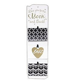 Fetco® 6x4 White & Gold Triple Love/moon Clip Frame