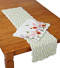 LivingQuarters Floral Trellis Reversible Table Linens