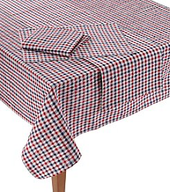LivingQuarters Seersucker Checkered Table Linens