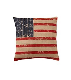 LivingQuarters Americana Paintbrush Decorative Pillow