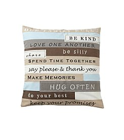 Ruff Hewn Family Rules Decorative Pillow