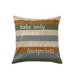 Ruff Hewn Photos And Footprints Decorative Pillow