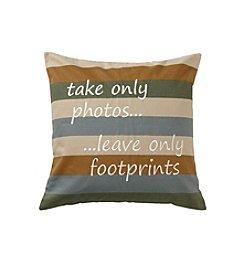 Ruff Hewn Photos And Footprints Decorative Pillow