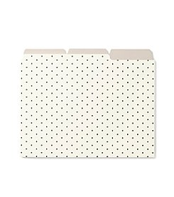 kate spade new york® Set Of 6 Bikini Dot File Folders