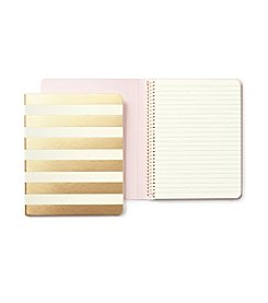 kate spade new york® Gold Stripe Spiral Notebook