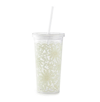 kate spade new york® Daisy Lace Tumbler With Straw