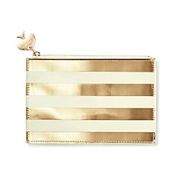 kate spade new york® Foil Stripe Pencil Pouch