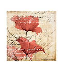Thirstystone® Vintage Script Poppies Set Of 4 Coasters