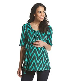 Three Seasons Maternity™ Short Sleeve Stripe Top