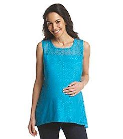 Three Seasons Maternity™ Solid Crochet Tank Top