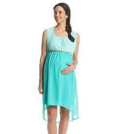 Three Seasons Maternity™ Sleeveless Colorblocked High-Low Hem Dress