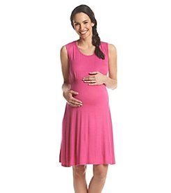 Three Seasons Maternity® Solid Belted Tank Dress