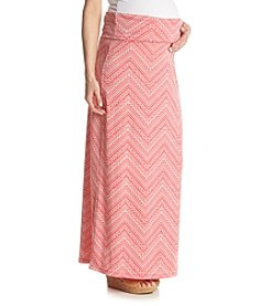 Three Seasons Maternity™ Chevron Print Maxi Skirt