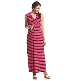 Three Seasons Maternity™ Sleeveless Surplice Stripe Maxi Dress