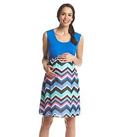 Three Seasons Maternity™ Solid Tank Chevron Skirt Dress