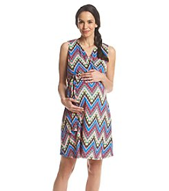 Three Seasons Maternity™ Sleeveless Chevron Print Dress