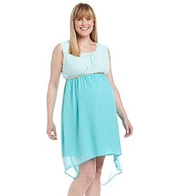 Three Seasons Maternity™ Plus Size Sleeveless Colorblock Hi-Low Dress