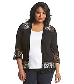 Notations® Plus Size Lace Bed Jacket
