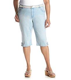 Gloria Vanderbilt® Plus Size Lexi Belted Skimmer Pants