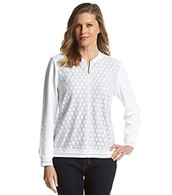 Alfred Dunner® Petites' Santa Clara Lace Front Stripe Back Jacket