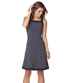 Chaps® Polka-Dot Jersey Dress
