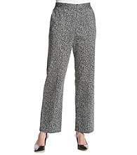 Alfred Dunner® Port Antonio Printed Textured Pants