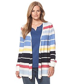 Chaps® Plus Size Striped Cardigan