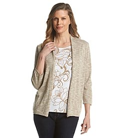 Alfred Dunner® African Safari Floral Layered Look Sweater